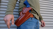 Load image into Gallery viewer, Cal38 Leather Belt owb Holster For Ruger GP100 357 Magnum 6 inch