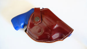 Cal38 Leather Belt Two Position Holster For Ruger LCRx 38 Special