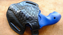 Load image into Gallery viewer, Cal38 Leather Basket Weave Belt owb Holster For Smith and Wesson J Frame 38 Special