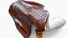 "Load image into Gallery viewer, Cal38 Leather Basket Weave Holster For Taurus 85 with the 3"" barrel"