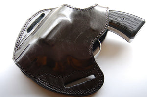 Leather Belt owb Holster For  EAA Windicator 38 Special 2 inch Barrel