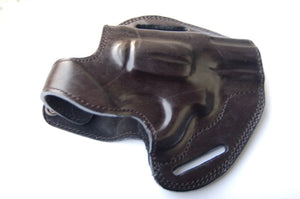 Cal38 Leather Holster for Smith and Wesson 44 Magnum Snub Nose Revolver