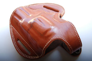Handcrafted Leather Belt owb Holster for Smith and Wesson 686 Plus Barrel 2.5