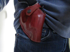 Leather Two Position Handmade Holster For Taurus Model 85 I Cal38 Leather