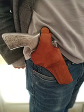 Load image into Gallery viewer,  Cal38 | Leather Cross Draw Holster For Smith and Wesson 686 4 inch Barrel