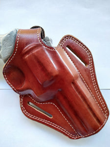 Leather Belt owb Holster For Colt Trooper 357 Magnum 4 inch barrel