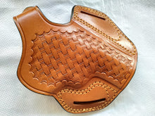 Load image into Gallery viewer, Cal38 | Leather Belt owb Basket Weave Holster Smith and Wesson 686