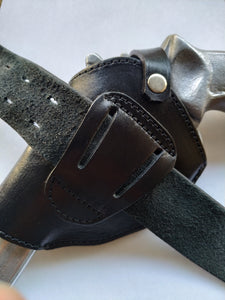 Cal38 | Leather Two Position Belt Holster For Smith and Wesson 686 Snub Nose