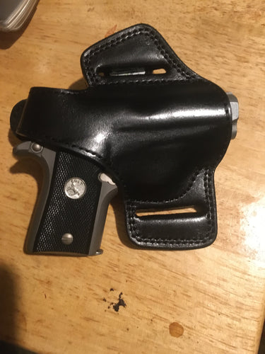 Cal38 | Leather Belt owb Holster Colt Mustang 380 Pocketlite