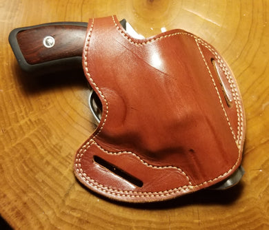 Handcrafted Leather Belt Holster for Ruger SP101 Standard .357 Magnum Revolver