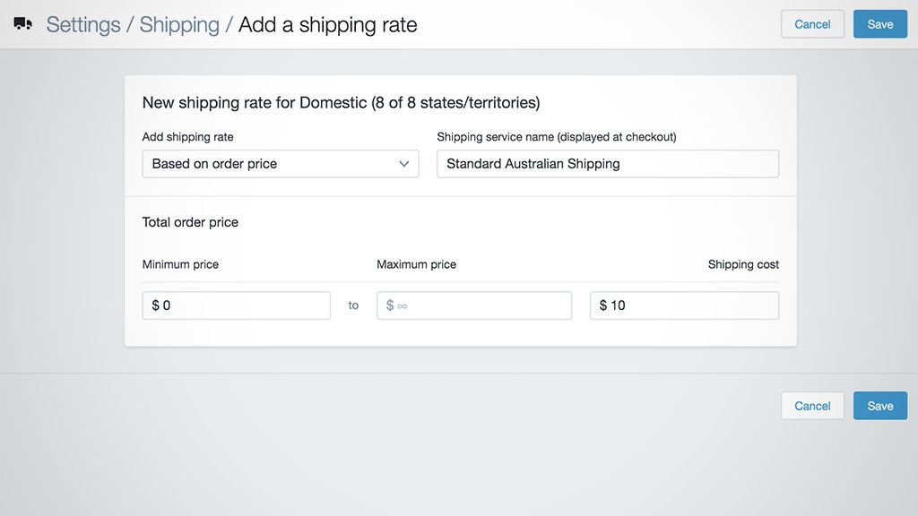 Configure Shipping for Shopify Store