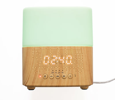 June & May Aroma Diffuser & Bluetooth Clock Speaker