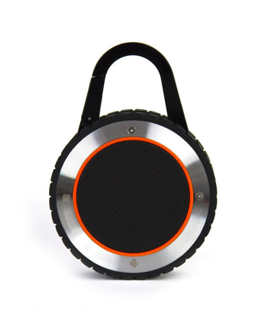 Wearable rugged speaker, ALL-Terrain Sound, ATS, outdoor bluetooth speaker, waterproof bluetooth speaker, portable bluetooth speaker, waterproof portable speaker, waterproof speaker, portable speaker, waterproof outdoor speaker, waterproof, portable, bluetooth, rugged speaker