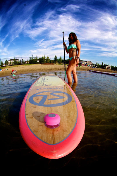 Paddle Boarding with Splash Tunes