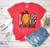 For the love of the game - SOFTBALL print