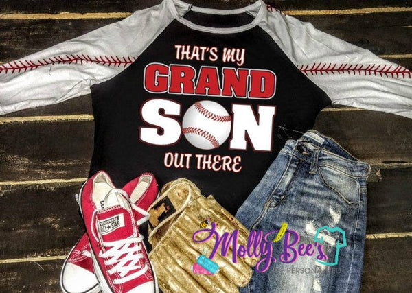 That's my Grandson out there Baseball print
