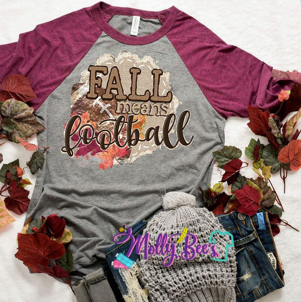 Fall means Football print