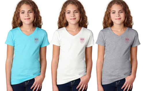 Girls V Neck T Shirt