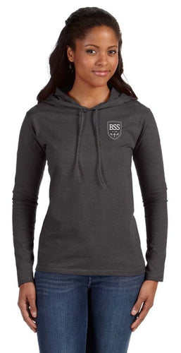 Ladies Long Sleve Hooded T