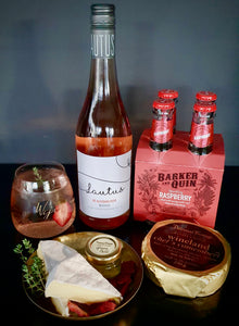 Wijn Rosie Raspberry Curated cheese & non-alcoholic wine box