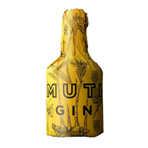 Muti Gin with yellow wrapper