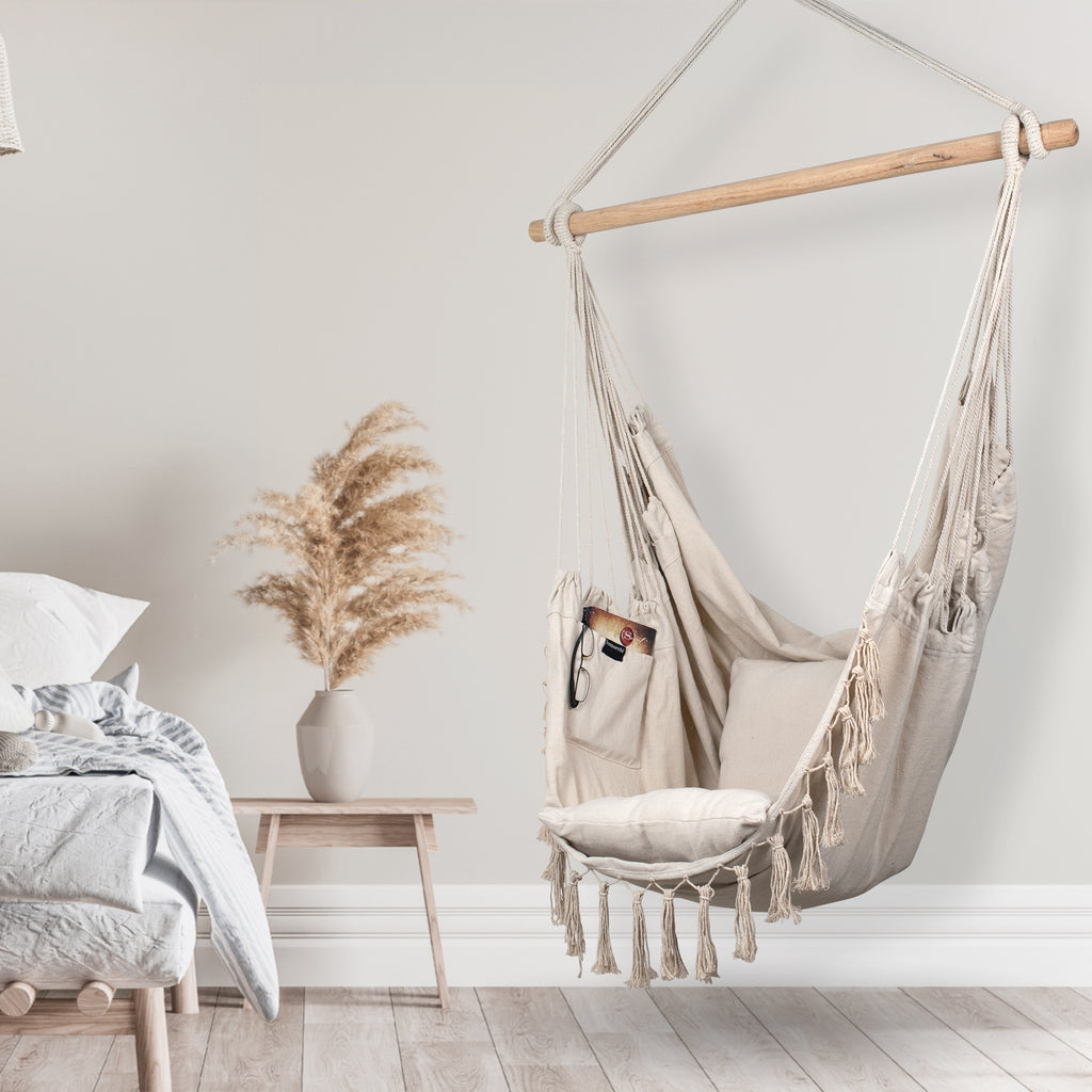 Hanging Hammock Chair (Ivory)