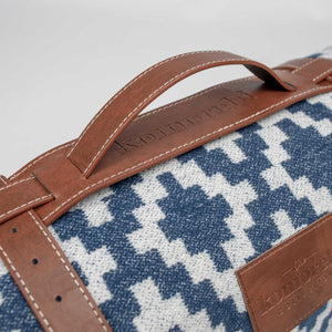 Komorebi-Diamond-Jacquard-Picnic-Blanket-Leather-Carry-Straps