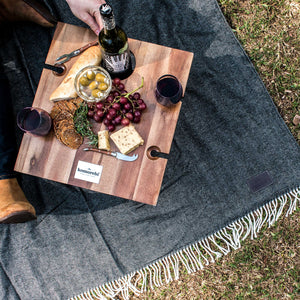 Komorebi-Folding-Picnic-Table-Herringbone-Picnic-Blanket