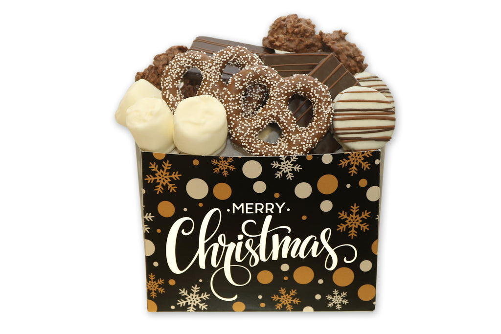 Merry Christmas Chocolate Filled Gift Box