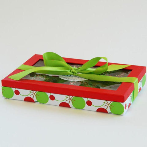 Christmas Chocolate Covered Pretzel Gift Box