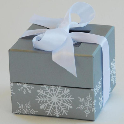 Snowflake Chocolate Covered Pretzel Favor Box