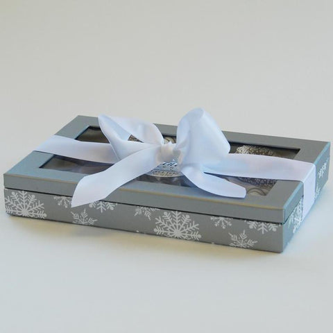 Snowflake Chocolate Covered Pretzel Gift Box