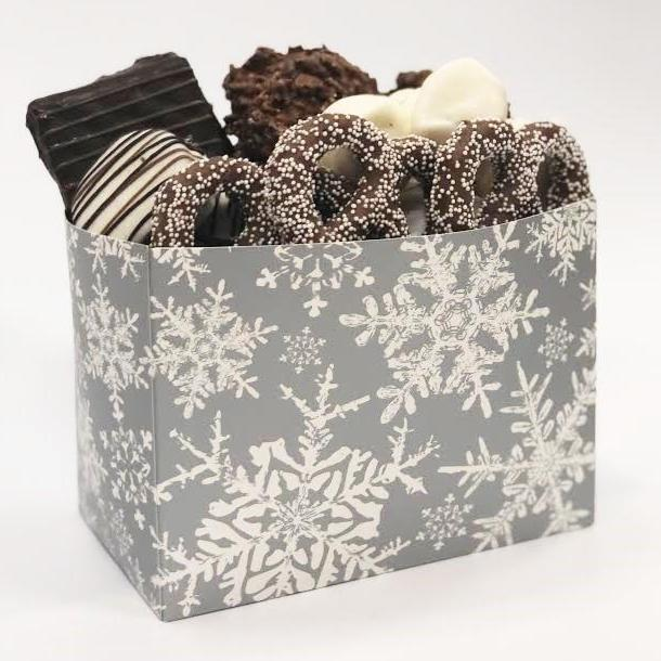 Silver Snowflake Chocolate Gift Box