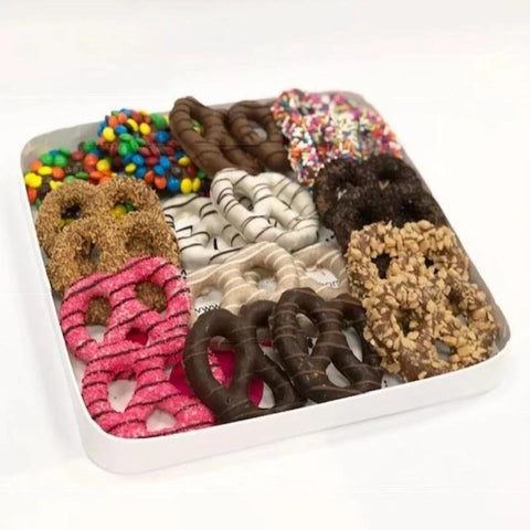 Chocolate Covered Pretzel Assortment Gift Platter