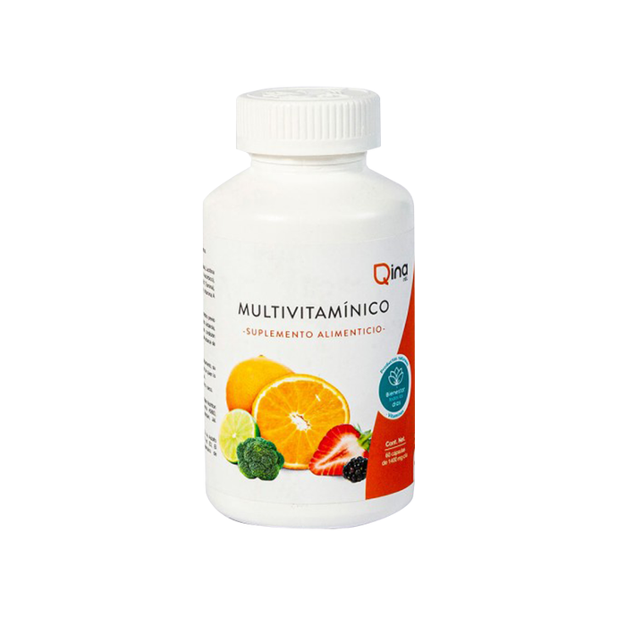 Multivitaminico Qina 60 capsulas 1034 mg