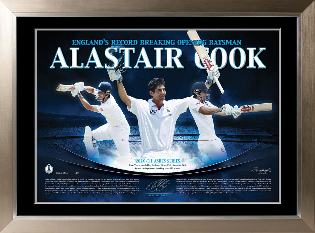 Alastair Cook Limited Edition Photo Display