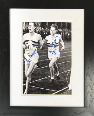 Roger Bannister & Chris Chataway B&W Photo Display