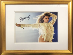 Beyonce Signed Photo Display