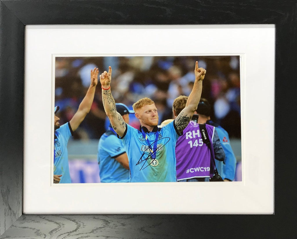 Ben Stokes Coloured Photo Display