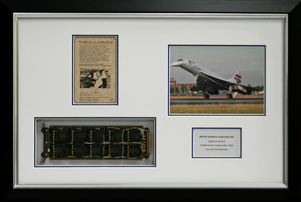Concorde Circuit Board Brian Trubshaw Certified Display