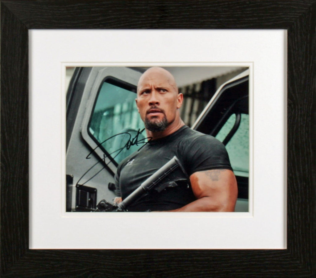 Dwayne Johnson Close Up Photo Display
