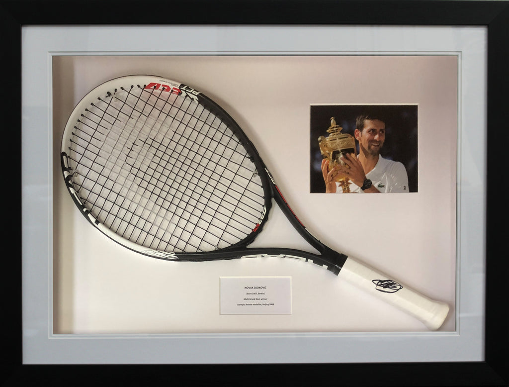 Novak Djokovic Signed Racquet Display