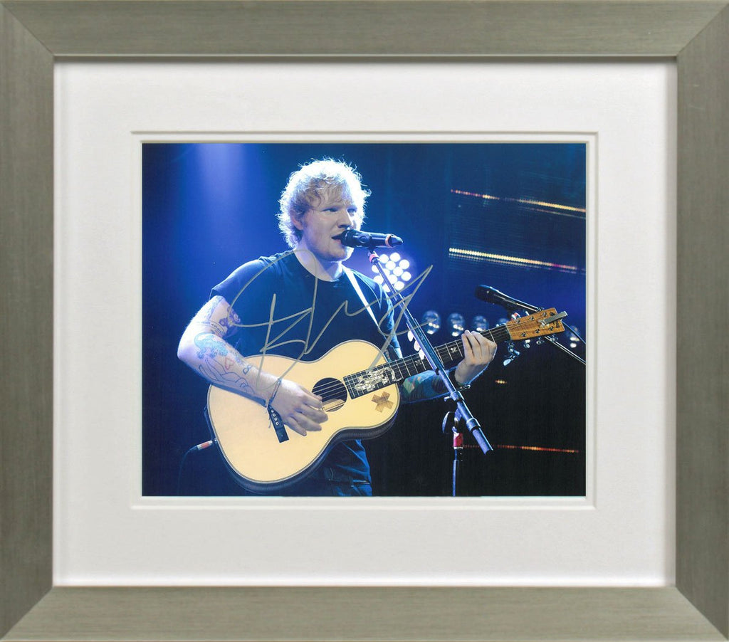 Ed Sheeran Photo Display - Silver