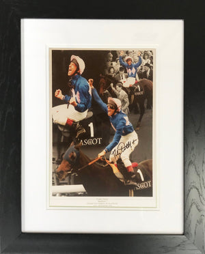 Frankie Dettori Signed Photo Display
