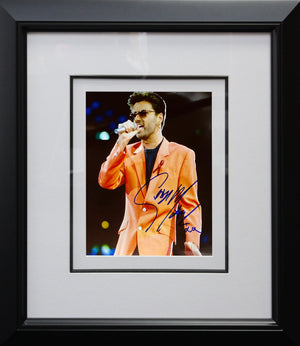George Michael Performing Photo Display