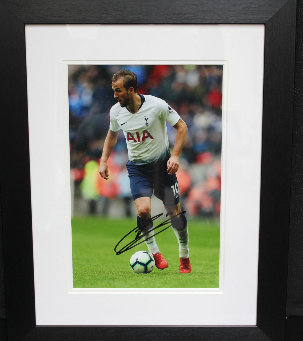 Harry Kane Dribbling Signed Photo Display