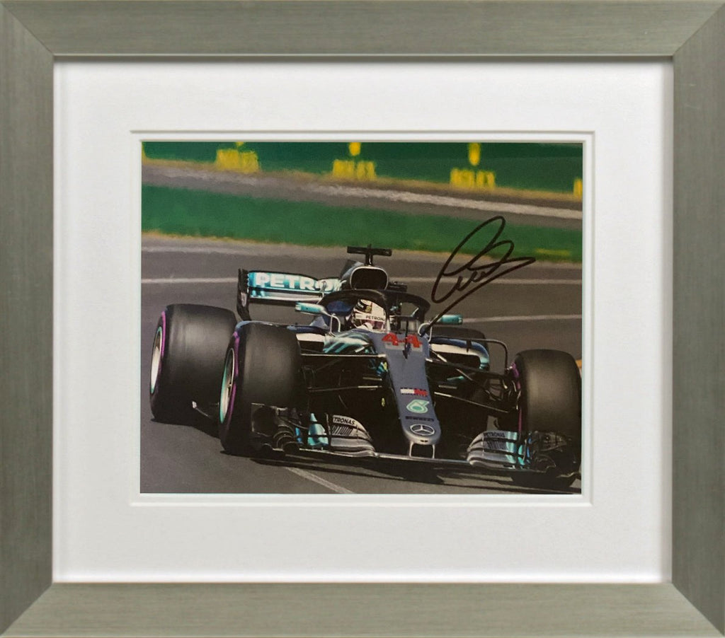 Lewis Hamilton Cornering Photo Display