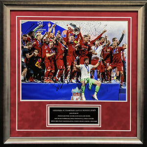 Liverpool 2018/19 CL Winners 12 Signed Photo Display