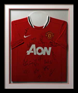 Manchester United Team Signed Shirt Display