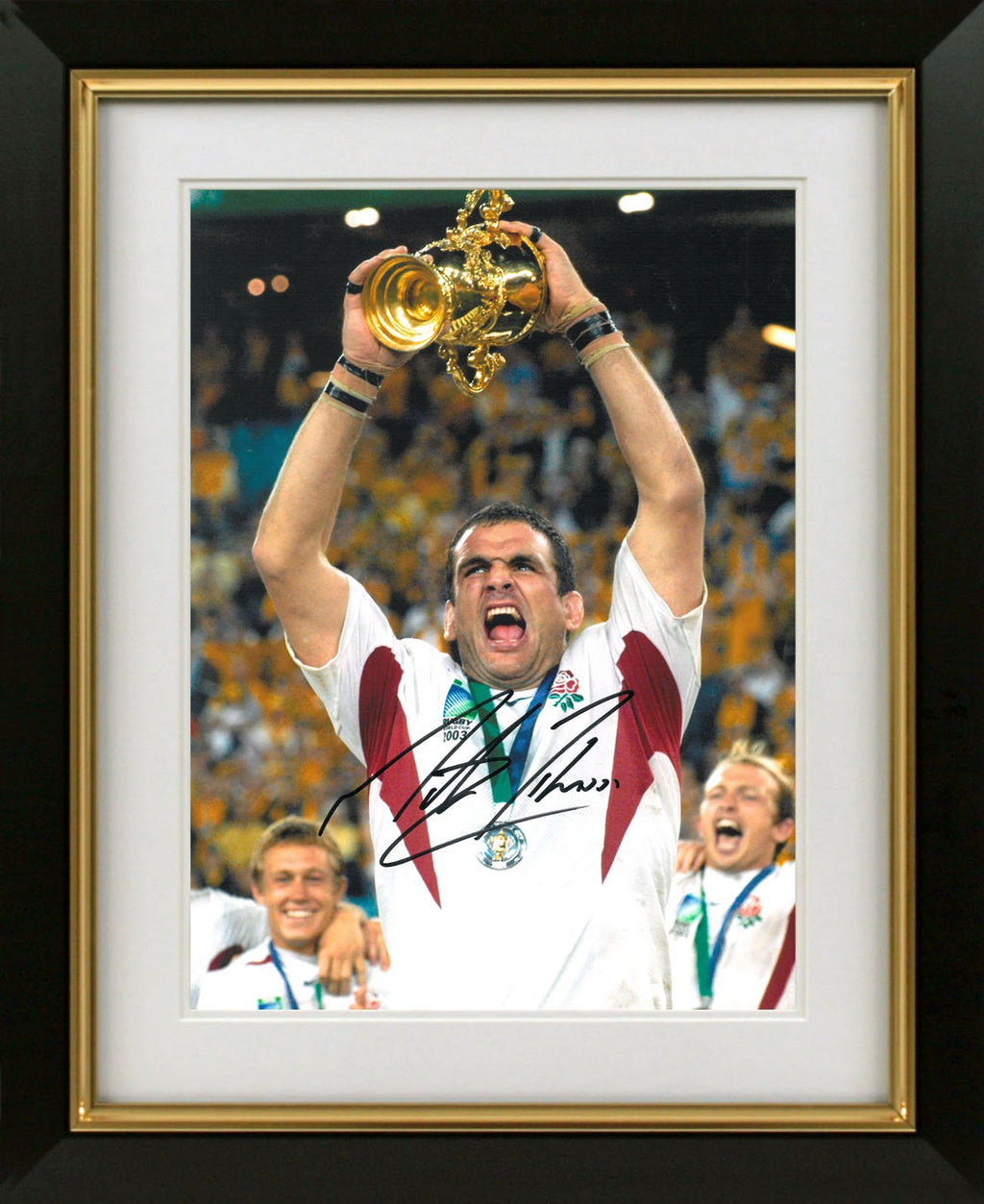 Martin Johnson 2003 World Cup Photo Display